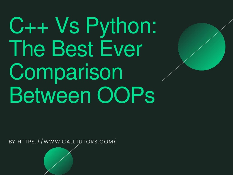 c++ vs python best comparison