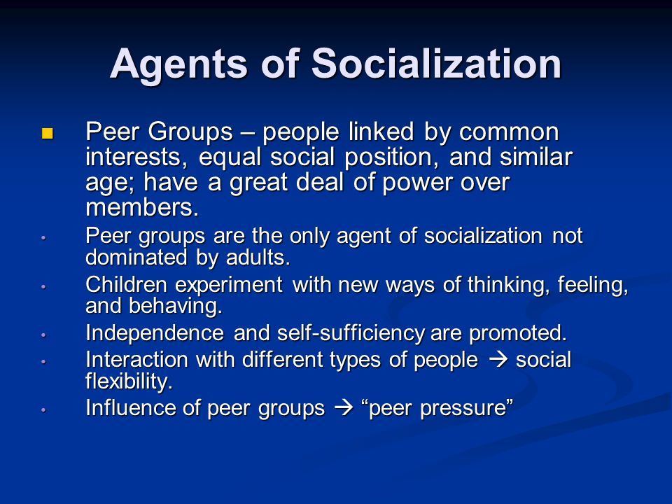 Agents Of Socialization Definition